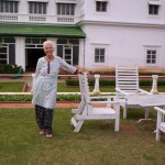 In front of the Green Hotel in Mysore, India