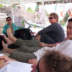 My Intrepid group on our felucca deck on the Nile