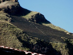 The mountain above Pisac are filled with these farming terraces...no longer used. Fantastic engineering