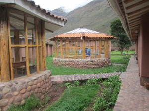 The mountains of Peru's Sacred Valley Are Visible From All Buildings