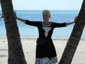 Posing for my photo for the newspaper interview today. The San Pedro Sun on Ambergris Caye, Belize