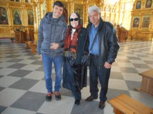 I went to Archangelsk, near the Arctic Circle, to celebrate my 79th birthday on September 10. I especially wanted to visit ancient Solovki Island in the White Sea, which has a monastery thousands of years old. Valodia of Moscow, is on photo left, and Pavel, of Vladivostok is on the right,