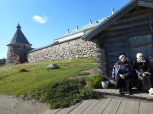 This ancient, ancient medieval Russian Orthodox Monastery on Solovki Island, is built in the Ark shape and has withstood attack over the centuries