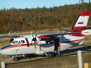 Our wonderful, double-engine, propeller plane was made in the Czech Republic. What fun the half-hour flight was! I was so lucky to be included on a special, off-season trip as normal flights had stopped the week before.