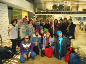 I made lots of friends from Jakarta, Indonesia.