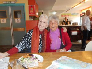 Rennie, of Bulgaria, just turned 80, as I will next September. So, we're sistras.