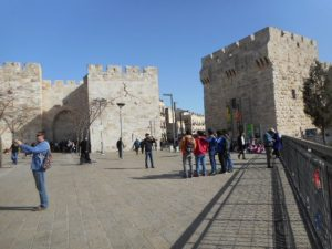 Entering the Old City of Jerusalem