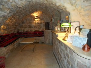 The front desk of my new hostel, The Citadel in Jerusalem