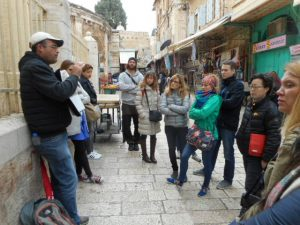 On the free Jerusalem Tour.