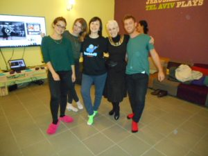Me and my Jitterbug class in Tel Aviv, Israel. Hostel Abraham.