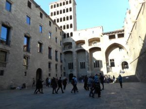 I took the Free City Walking Tour on one of my first days here. It's hard to tell Barcelona from Jerusalem!