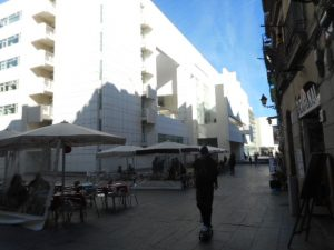 Barcelona's beautiful, pristine white university, which no graffiti artists touch!