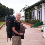 In Mysore, India, with my 86-litre backpack
