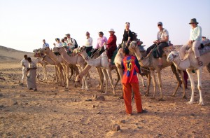 Before our dinner in a Nubian home, we rode to a monastery