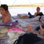 This is the way we slept, ate, and spent our days on the Nile