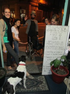 Tobey says goodbye to his new, loving friends from the hostel in Montevideo, Uruguay.