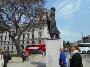 Churchill Statue in Westminster, London