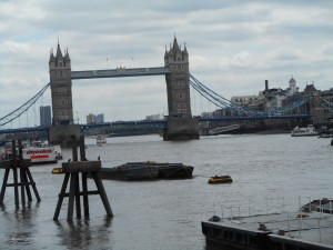 Tower Bridge on the Themes River in London