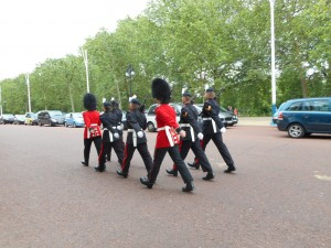 The Changing of The Guard in front of Buckingham Palace.