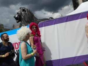 Royal Lions and Pride Parades. Lots of walking rainbows and luckily, no rain.