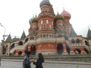 A free walking tour of Red Square brought us to St. Basil's Cathedrals, which is actually nine chapels, hence the many domes.