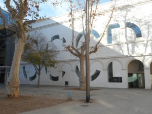 The Barcelona University Culture Museum's initials are written in the architecture - CCCB
